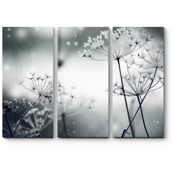 Модульная картина Замерзшие цветы