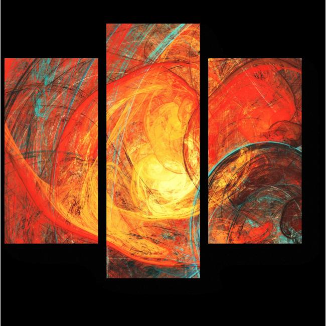 Модульная картина Горящее солнце