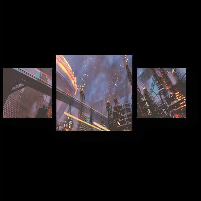Модульная картина Мегаполис будущего