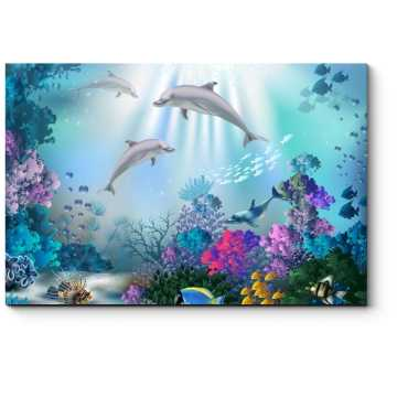 Модульная картина Прекрасный подводный мир