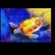 Морская черепаха, акварель