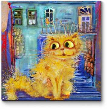 Модульная картина Солнечный котик