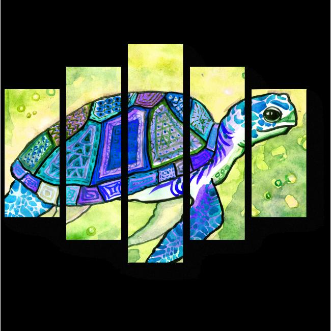 Модульная картина Голубая черепаха