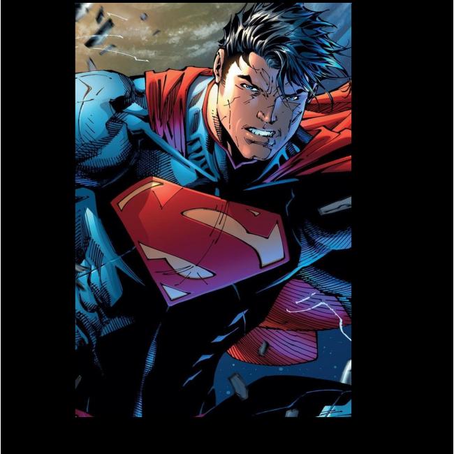 Модульная картина Супермен, разбивающий стену