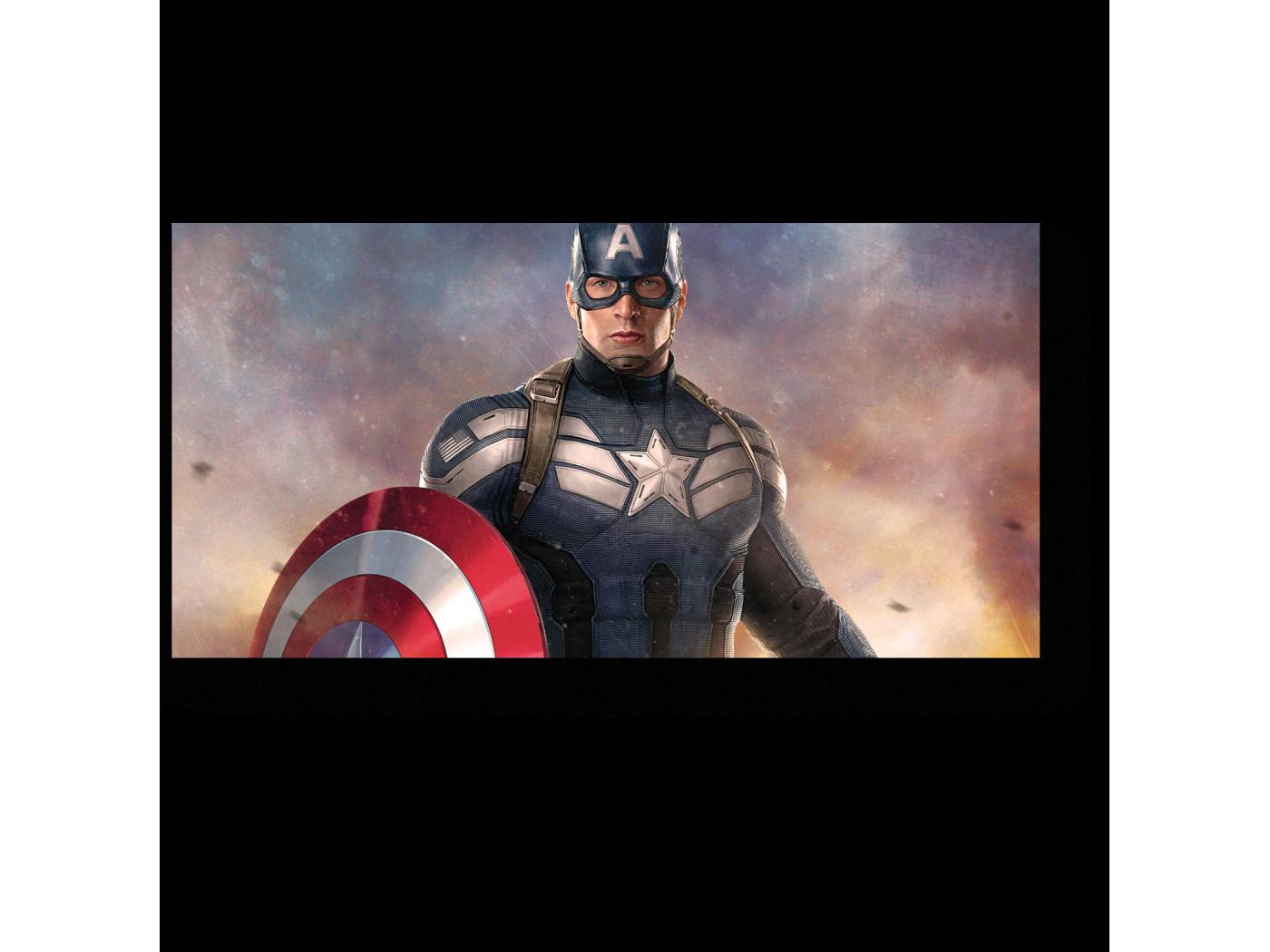 Открытка с капитаном америкой