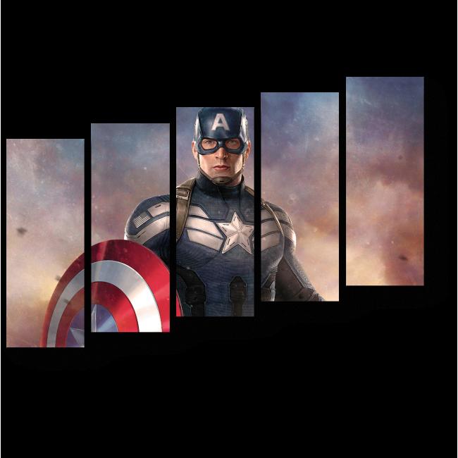 Модульная картина Капитан Америка
