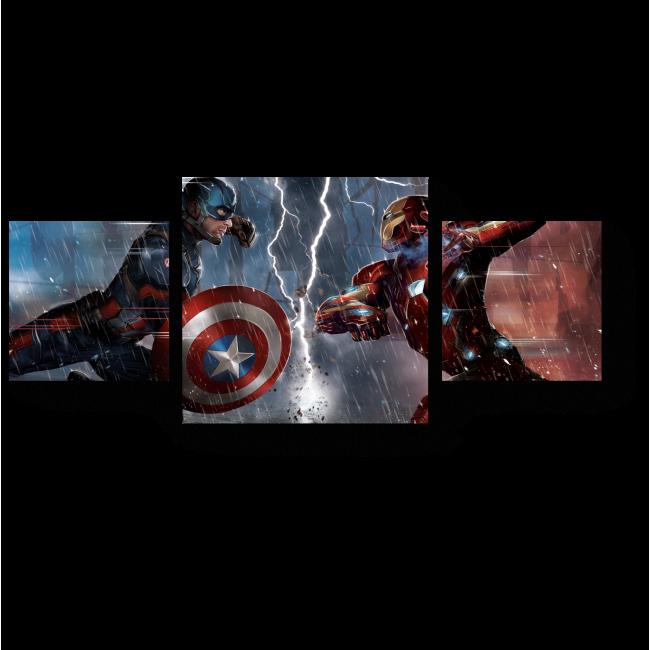 Модульная картина Разлом героев