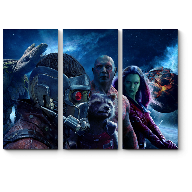 Модульная картина Стражи Галактики