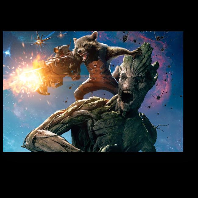 Модульная картина Ракета и Грут