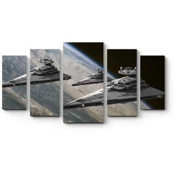 Модульная картина Межгалактические корабли
