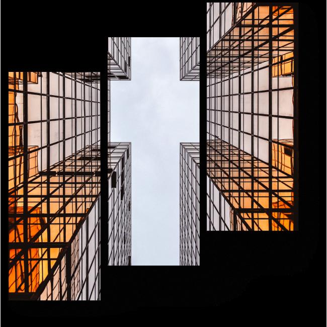Модульная картина Воздушный крест