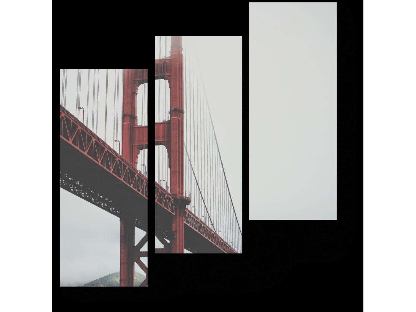 Модульная картина Мост через время (60x64) фото