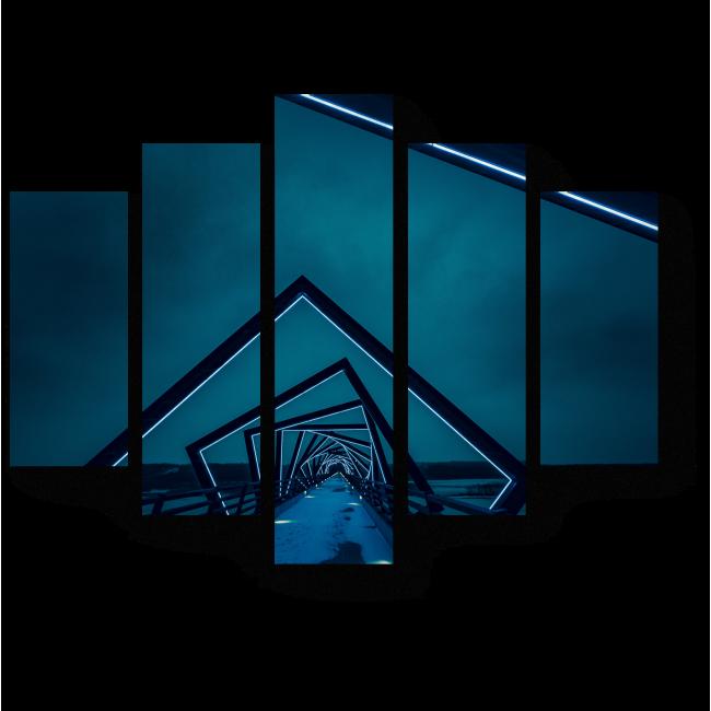 Модульная картина Бесконечный мост