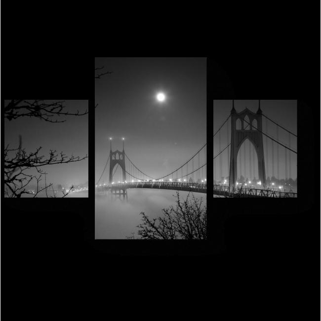 Модульная картина Без тьмы не бывает света