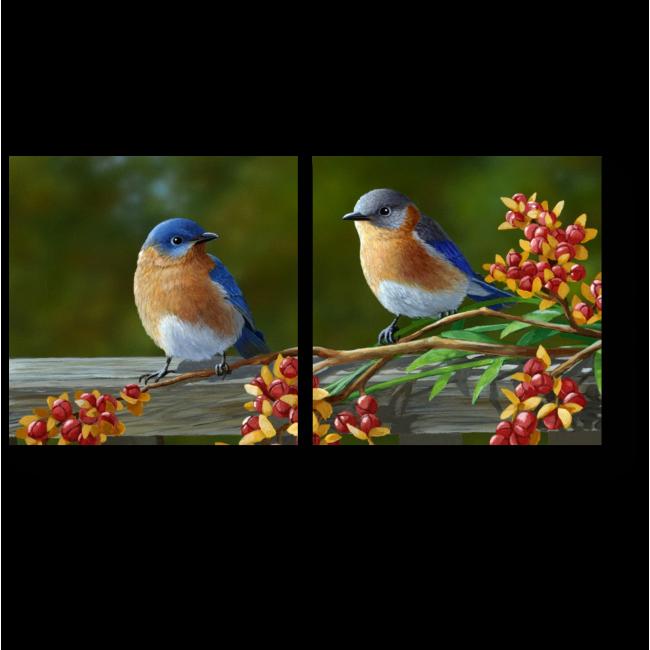 Модульная картина Птички - невелички