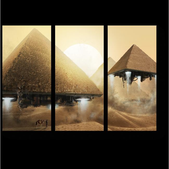 Модульная картина Секрет пирамид