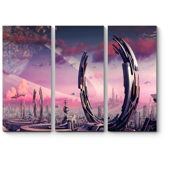 Модульная картина Новый мир