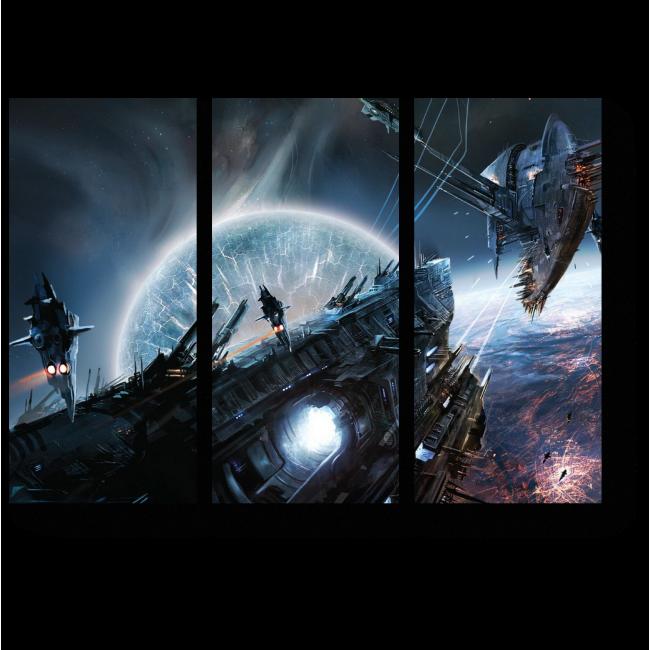 Модульная картина Космические войны
