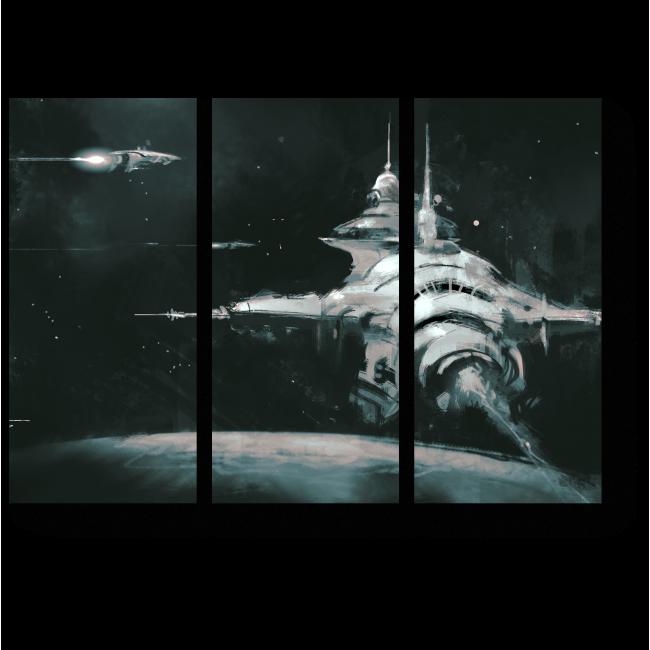 Модульная картина В бескрайнем космосе