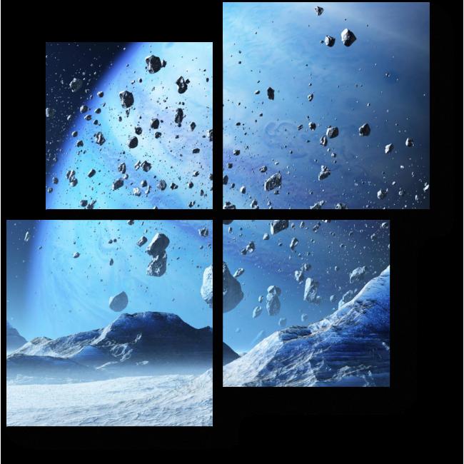 Модульная картина Метеоритный дождь