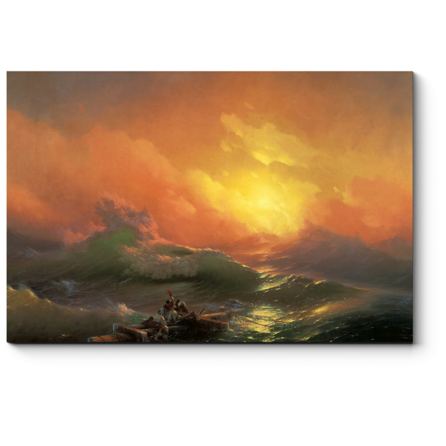 Модульная картина Девятый вал, Иван Айвазовский
