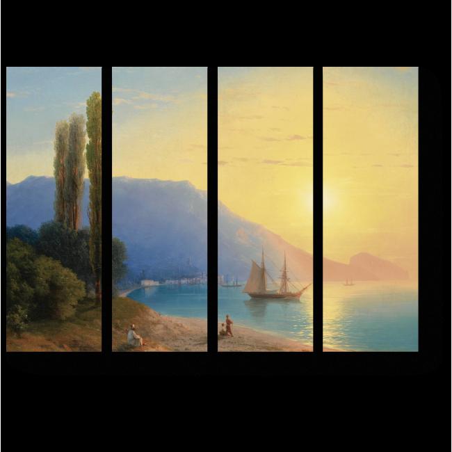 Модульная картина Восход солнца у берегов Ялты, Иван Айвазовский