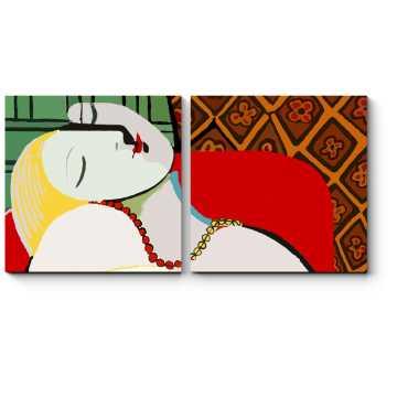 Модульная картина Сон, Пабло Пикассо