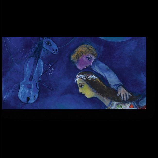 Модульная картина В ночь красного петуха, Марк Шагал
