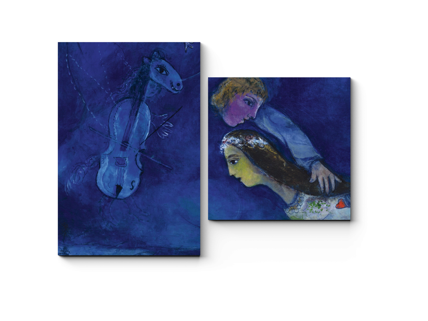 Модульная картина В ночь красного петуха, Марк Шагал (40x30) фото