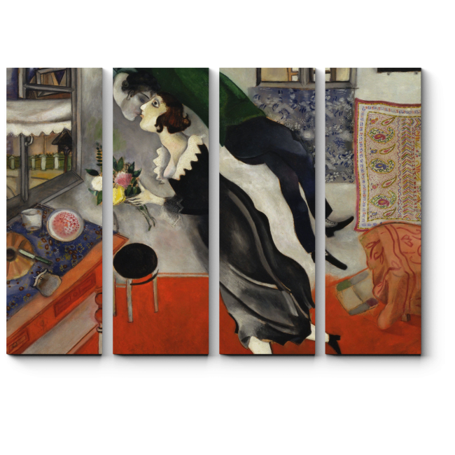 Модульная картина День рождения, Марк Шагал
