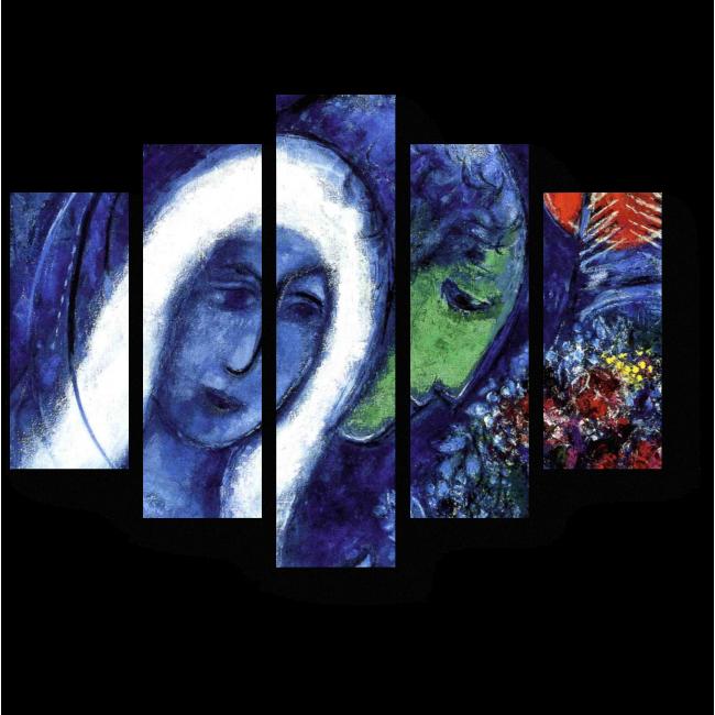 Модульная картина Елисейские поля, Марк Шагал