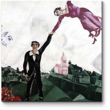 Модульная картина Прогулка, Марк Шагал