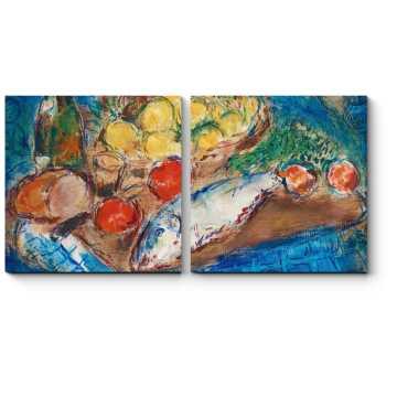 Модульная картина Натюрморт, Марк Шагал