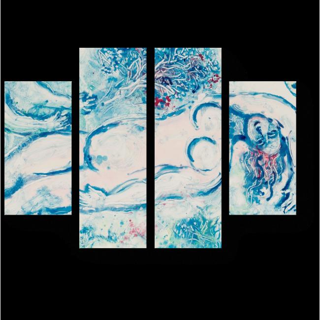 Модульная картина Nu rose reposant, Марк Шагал