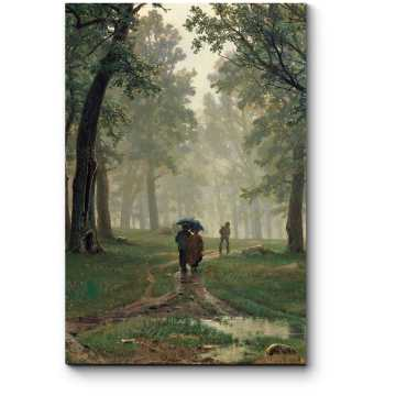 Модульная картина Дождь в дубовом лесу, Шишкин