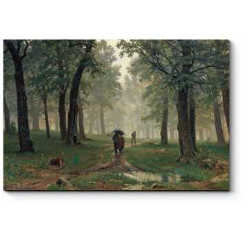 Дождь в дубовом лесу, Шишкин