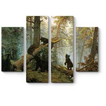 Модульная картина Утро в сосновом лесу, Иван Шишкин