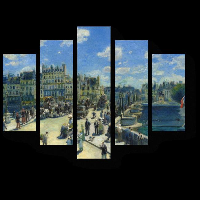 Модульная картина Новый мост, Париж, Пьер Огюст Ренуар