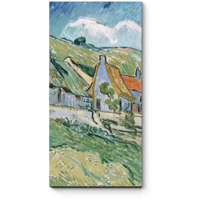 Модульная картина Коттеджи, Винсент Ван Гог