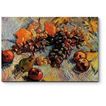 Модульная картина Виноград, лимоны, груши и яблоки, Винсент Ван Гог