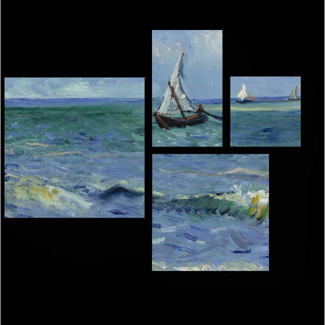 Модульная картина Морской пейзаж в Сен-Мари, Винсент Ван Гог