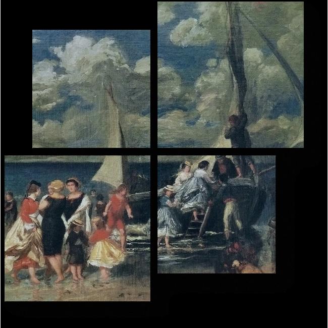 Модульная картина Возвращение гребцов, Пьер Огюст Ренуар