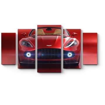 Модульная картина Прекрасный-красный Астон Мартин