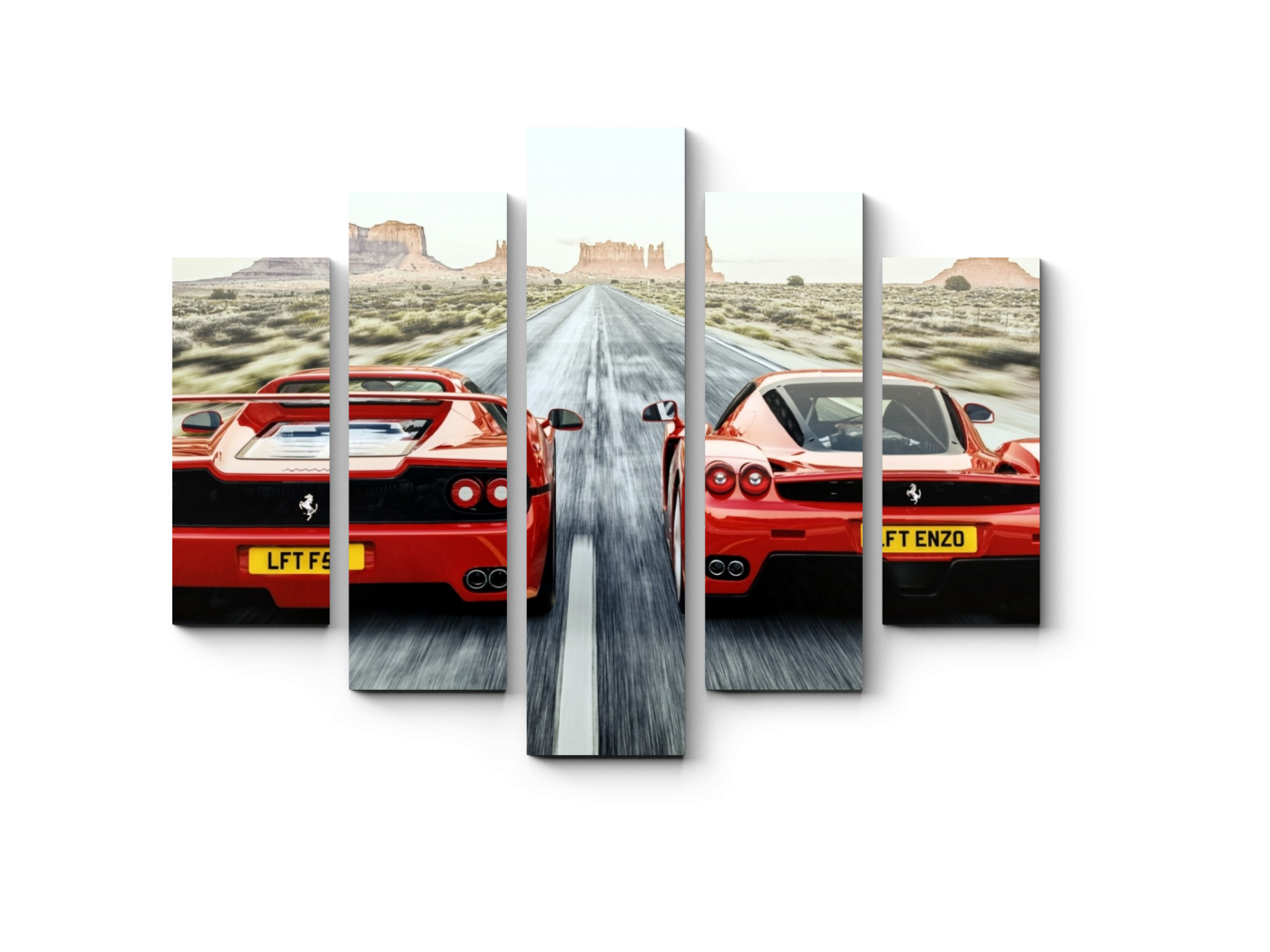 Модульная картина Наперегонки с братом (75x60) фото