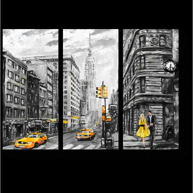 Модульная картина Пасмурный день в Нью-Йорке