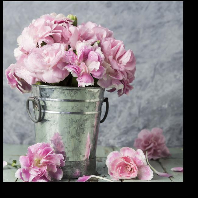 Модульная картина Прекрасные розовые гвоздики