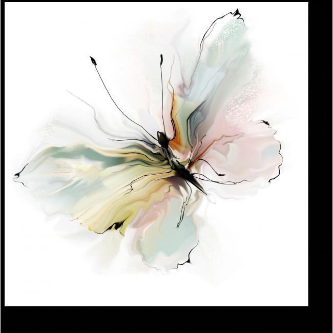 Модульная картина Нежная бабочка