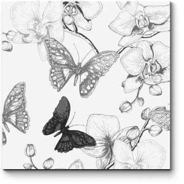 Модульная картина А бабочкам снятся цветы...