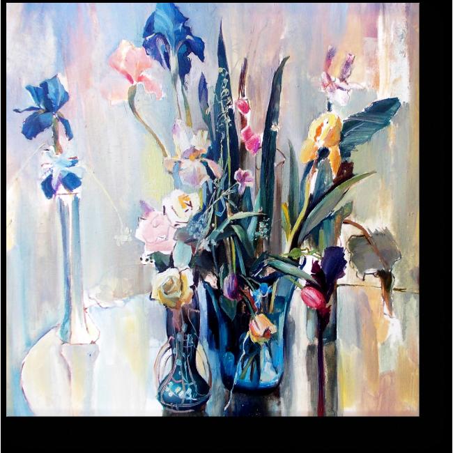 Модульная картина Утонченная цветочная композиция