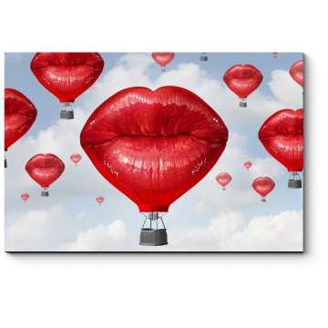 Модульная картина Воздушные поцелуи